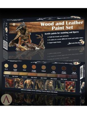 Wood and Leather Paint Set (8x17ml)