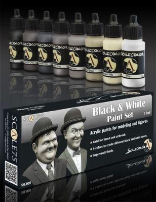 Black & White Paint Set (8x17ml)