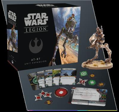Star Wars: Legion - AT-RT verpackung vorderseite mit modell bemalt inhalt details
