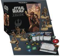 Star Wars: Legion - Rebellentruppen verpackung vorderseite mit bemalten modellen inhalt details