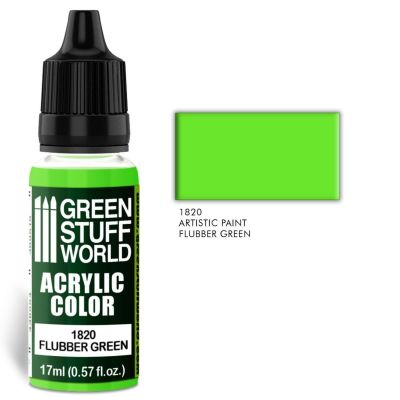 Acrylic Color FLUBBER GREEN