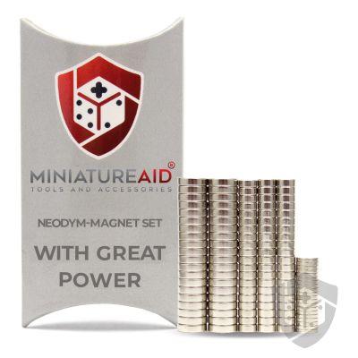With Great Power neodym magnete set miniatureaid vorderseite