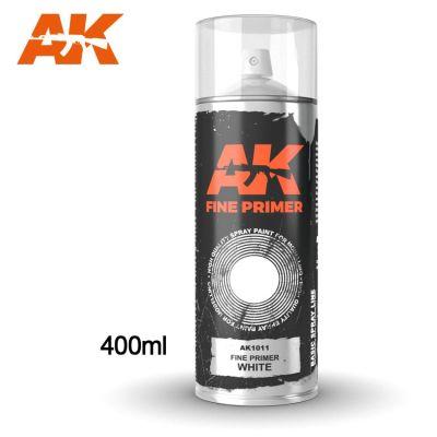 Fine Primer White - Spray 400ml (includes 2 Nozzles)