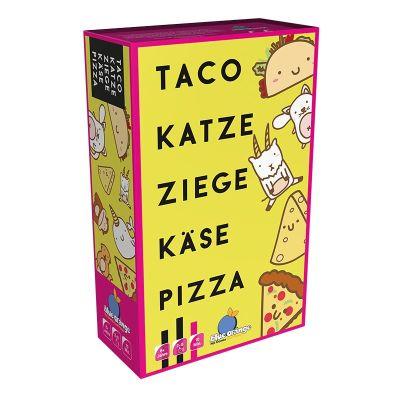 Taco Katze Ziege Käse Pizza Verpackung Vorderseite