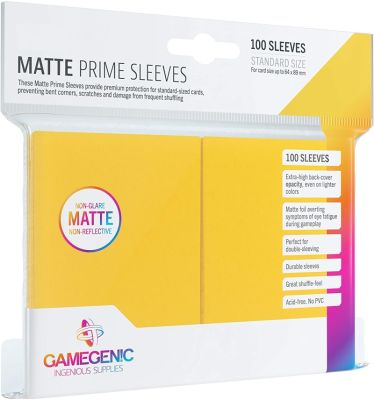 Gamegenic PRIME Sleeves Yellow 66 x 91 mm gelb...