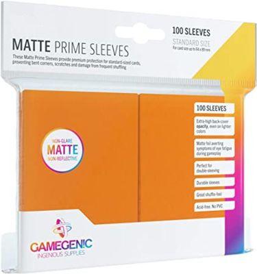PRIME Sleeves Orange 66 x 91 mm Verpackung vorderansicht