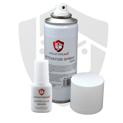 Activator Spray + Super Glue Brush Bundle