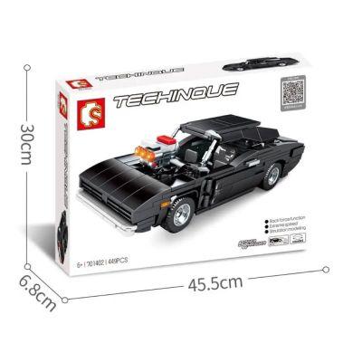 Sembo Schwarzer Sportwagen Pullback S-701402
