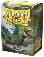 Dragon Shield Standard Sleeves - Matte Olive (100 Sleeves)